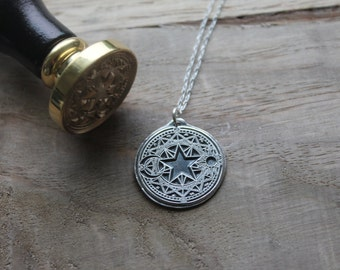 Cardcaptor Sakura - Magical circle - Sun - Moon - Star wax seal pendant