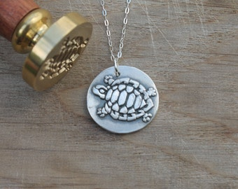 Turtle wax seal pendant