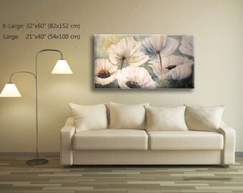 Anemone, Flower Art Print, Wildflower Print, Painting Flowers, Wildflower Painting, Wildflower Art, Flower Wall Art, Living Room Art