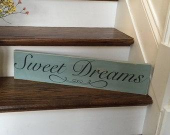 Sweet Dreams Hand Painted Wooden Sign