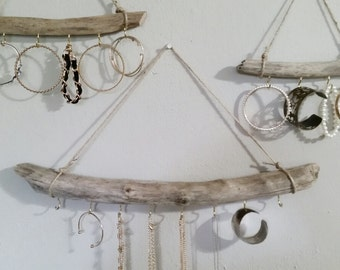 Driftwood Jewelry Organizer Different Sizes, Hanging Jewelry Display, Necklace Holder, Wall Jewelry Display, Bohemian Jewelry Holder
