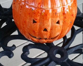 Halloween - Pumpkin - Jack O Lantern - Ceramic Pumpkin - Ceramic - Home Decor - Decoration - Light Up - Halloween Decor - Light Up Pumpkin -