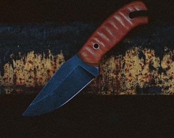 Hi-Tech modern Knife from HighCarbon Steel. U12 highcarbon steel blade. Hand-forged modern Knife with Kydex sheath. Perfect Groomsmen Gift