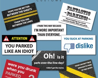 Bad Parking Cards - Set of 24 - (2 NEWLY ADDED DESIGNS!)