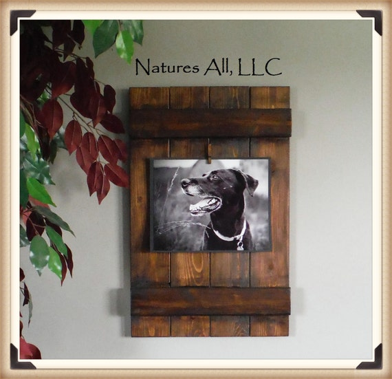Rustic Picture Frame-8x10/ Home Decor Ideas/Country Picture Frame/Country Home Decor/Dark Walnut/Shipping Included: Item# 810-3510