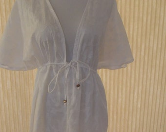 White Swimsuit Coverup/Women's Beach Wear