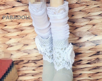 Bjd Doll Pretty Crochet Boots for  1/4 MSD 1/3 SD10 SD13  Doll Shoes