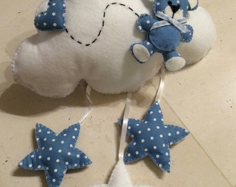 Stitchable Teddy bear and cloud