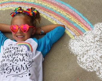Rainbow Shirt - Unisex Shirts - When it rains look for Rainbows when it's dark look for Stars - Inspirational Shirts - Quote Shirts