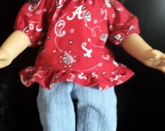 Alabama 18in Doll 2Pc Outfit American Girl Ect