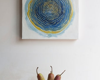 Abstract Encaustic Painting Original Painting  Minimalist Art Home decor Wall art Textured painting Hot wax
