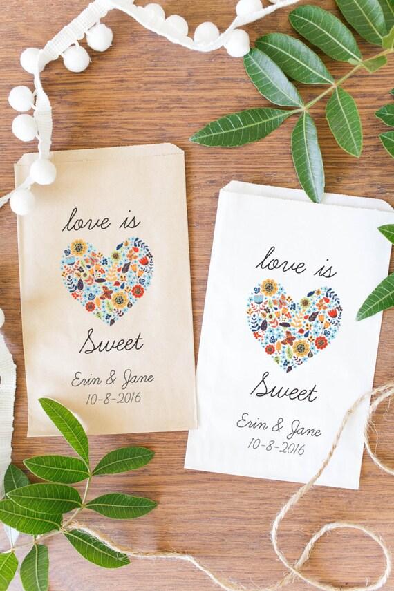 Custom Wedding Candy Bags, Custom Favor Bags, Custom Treat Bags-BWE-39
