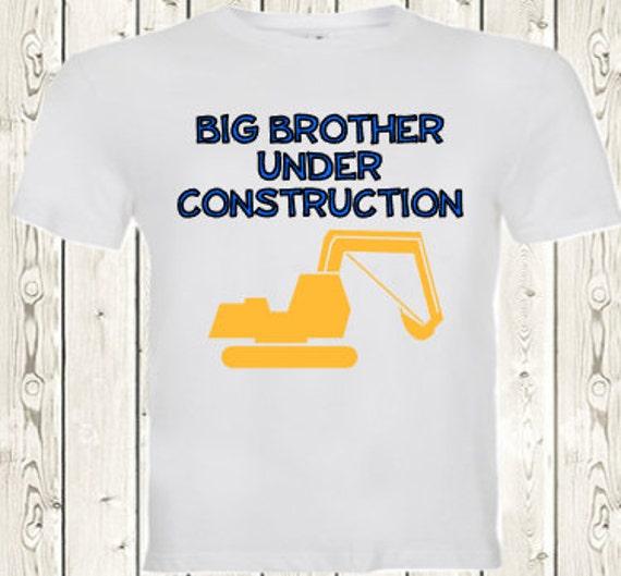 Big brother under construction pregnancy announcement T SHIRT