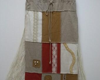 Natural linen Skirt