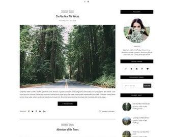 Blogger Template - Responsive Template - Clean Minimalist template - Slide Show - Photography Blogspot Theme