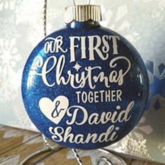 Our First Christmas Together Couples Ornament by ...