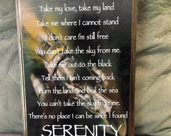 Firefly Serenity Wooden Sign