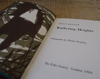 Wuthering Heights. Emily Bronte. Folio Society Edition. Vintage Hardback Book