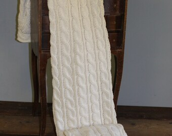 Beautiful Handmade Cozy Throw Blanket - Ivory
