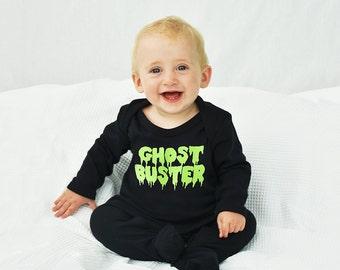 Ghost Buster Halloween Baby Romper Sleepsuit - Halloween Romper - Halloween Baby - Halloween Baby Costume - Ghostbuster [RMPR-HW-004]