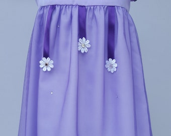 Flower Girl Dress, Bridesmaid Dress, Baby's Birthday Party Dress, Special Occasion Dress, Purple dress 6-9 months. By JQDresses