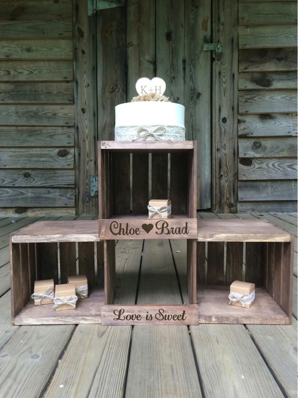 Rustic Wedding Cupcake Stand Crate Cupcake By Carolinacrateco