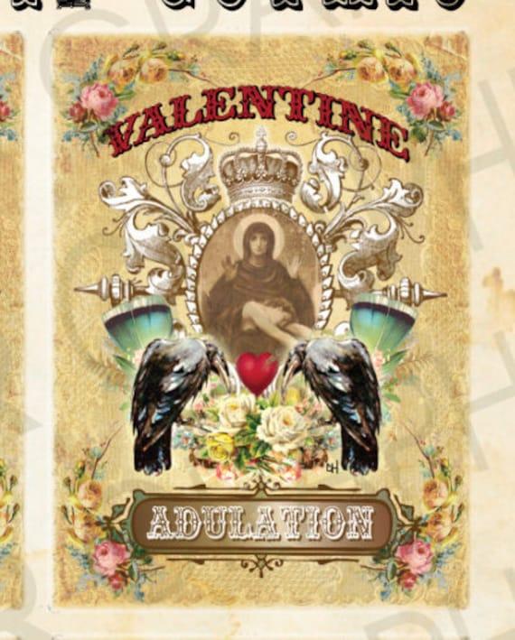 Gothic Victorian Valentine Cards Printable Designs Goth Grunge
