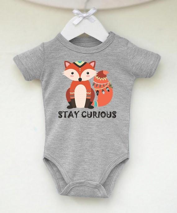 Tribal Fox Baby Clothes Boho Fox Baby by LittlePrincessTara
