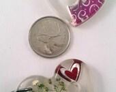 Diz, Heart Shaped Flowers, hearts, glitter, 40 mm x 40 mm