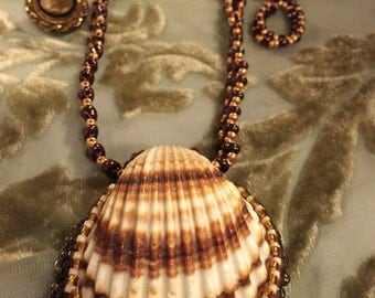 Seashell necklace.