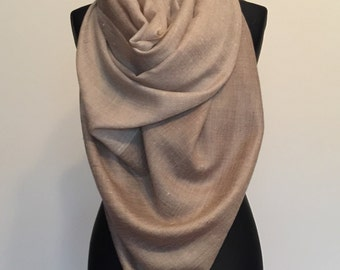 Folklorica Pure Pashmina Handwoven 100% Cashmere Stole Scarf Wrap