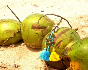 Key chains/Keyrings/Boho key rings/Tropical key rings/Bags decoration/Bohemian Key raings * PIPA KEY CHAIN