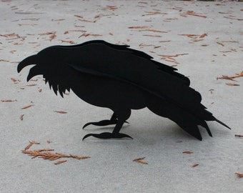 Crow, Raven, Steel Sculpture, Raven Sculpture, Garden Sculpture, Bird Sculpture, Steel Raven, Metal Crow, Metal Garden Art, Crow Sculpture
