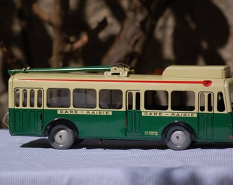 Bus trolley toy Joustra - metal - 1955