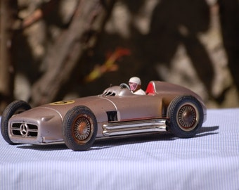 Mercedes W196 - toy race plate West Germany - 1955