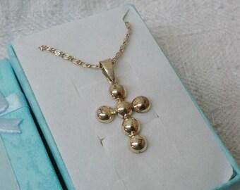 925 Silver vintage SK567 cross pendant