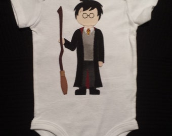 Harry Potter / Baby Clothes / Hand Sewn / Baby Bodysuit