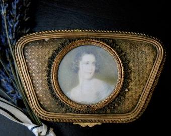 Antique Bronze French Trinket / Jewelry Box   Sku: J019