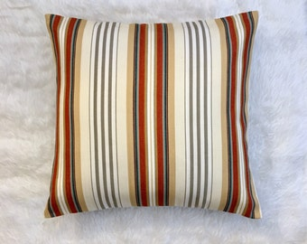 "Striped New Mexico Pillow Cover | Cushion Cover | Throw Pillow Cover | Decorative Pillow Cover | Envelope Closure | 18""x18"""