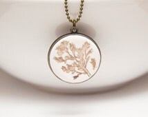 """Necklace """"Emma"""" with Meadow Grass Imprint"""