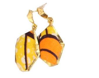 Arewa Earring- Orange/Yellow