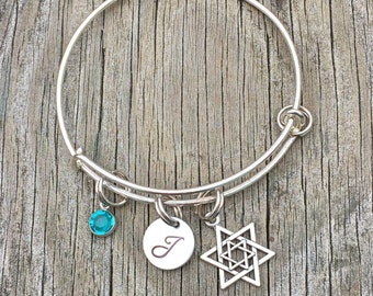 Jewish bracelet - Jewish jewelry - Star of david  - Hebrew jewelry - Jewish - Bracelet - Hebrew bracelet - Hanukkah