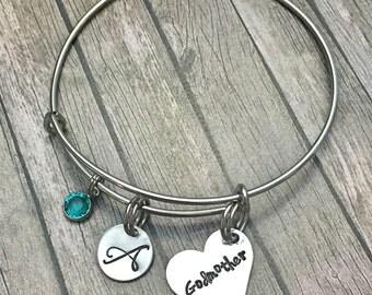 Godmother gift -Gift for godmother - Godparent gift - Godmother jewelry - Godmother bracelet - Gift from godchild