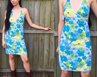 Vintage Retro 60's Inspired Triangle Top Halter Dress with Tags