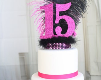 Feather Quince Cake Topper