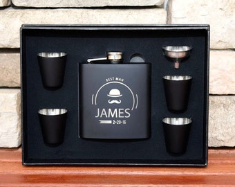 9 Flasks Gift Set, Groomsmen Gifts, Personalized Flasks, Custom Flasks, Engraved Flasks, Groom Gift, Flask, Custom Groomsmen Flask, Best Man
