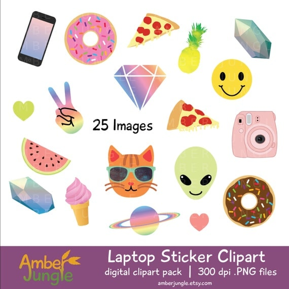 Simplicity image in cute printable stickers