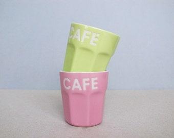 Vintage Espresso Ceramic Tumbler / Mug without Handle by Siaki
