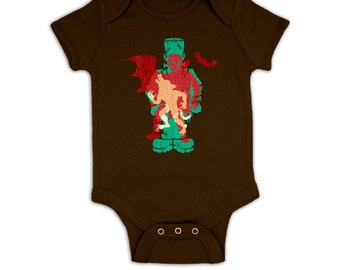 Monster Silhouettes baby grow
