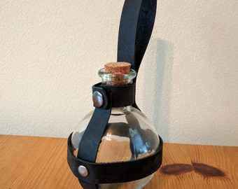 Round Potion Bottle with Holder